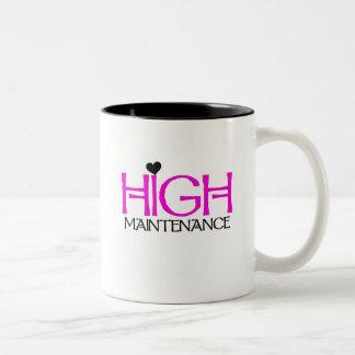 High Maintenance Tshirts and Gifts Two-Tone Coffee Mug