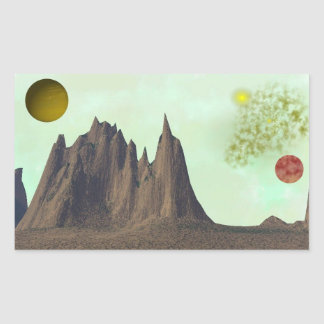 High Majestic Mountains Space Scene Stickers