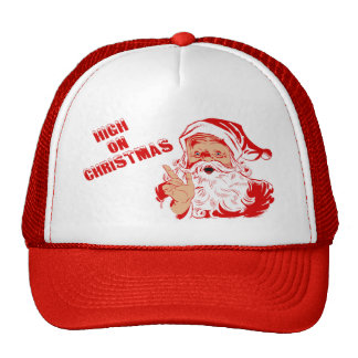 High On Christmas Santa Trucker Hat
