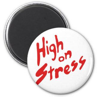 HIGH ON STRESS REFRIGERATOR MAGNET