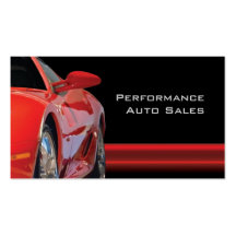 High Performance Auto Sales and Service Pack Of Standard Business Cards