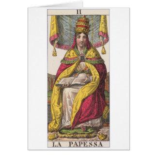 High Priestess Vintage Tarot Card