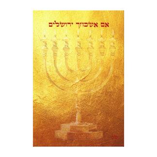 High Quality Canvas Print Jerusalem gold Menorah