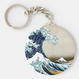 High Quality Great Wave off Kanagawa by Hokusai Key Ring