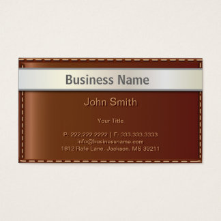 High Quality Leather Bag Style Business Card