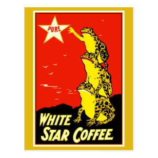 High quality retro vintage White Star Coffee ad Postcard