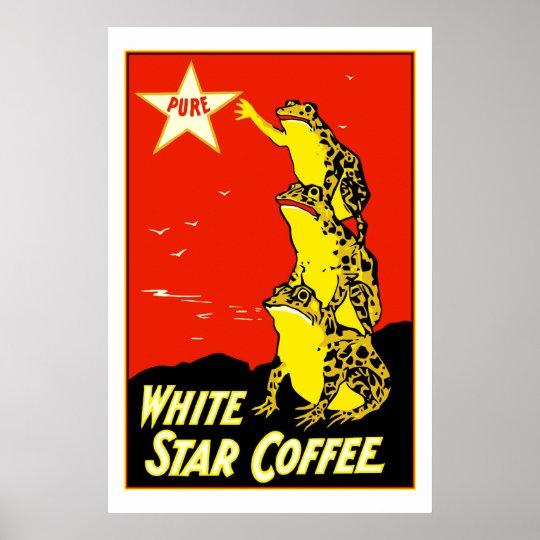 High quality retro vintage White Star Coffee ad