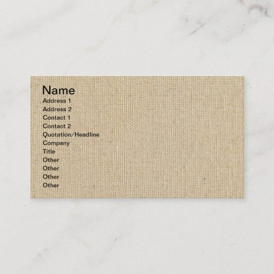 High quality texture of the cotton canvas business card zazzle high quality texture of the cotton canvas business card reheart Choice Image