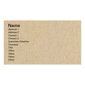 High Quality Texture Of The Cotton Canvas Pack Of Standard Business Cards