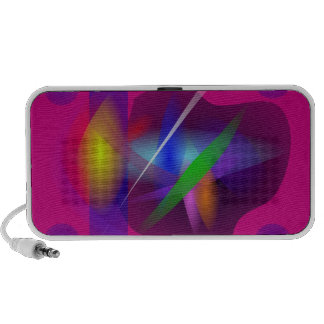 High Quality Translucent Abstract Painting Laptop Speakers