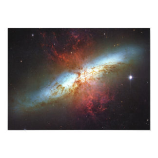 High Rate Star Formation Starburst Galaxy M82 13 Cm X 18 Cm Invitation Card