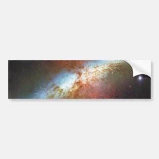 High Rate Star Formation Starburst Galaxy M82 Bumper Sticker