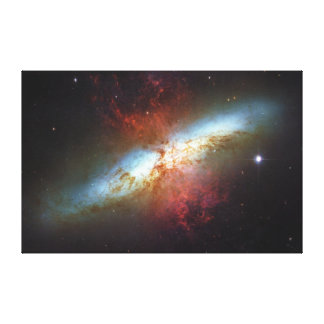 High Rate Star Formation Starburst Galaxy M82 Stretched Canvas Print