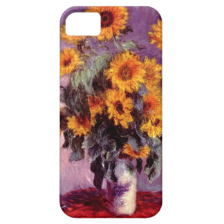 High Res Claude Monet Sunflowers Case For The iPhone 5