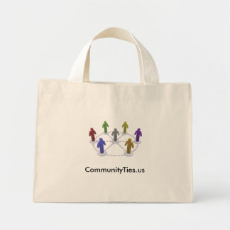 High Res commties_logo, CommunityTies.us Mini Tote Bag