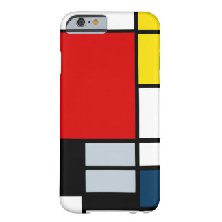 High Res Piet Mondrian Composition Barely There iPhone 6 Case