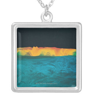 High Resolution Gravity Data Silver Plated Necklace