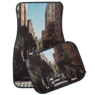 High Rise Building and Tree Set of 4 Car Mats