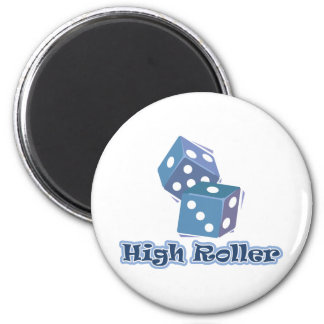 High Roller - Dice Games 6 Cm Round Magnet