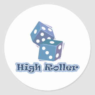 High Roller - Dice Games Round Sticker