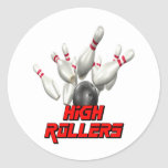 High Rollers Bowling Round Stickers