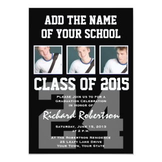 High School Athlete Graduation Class of 2015 Card