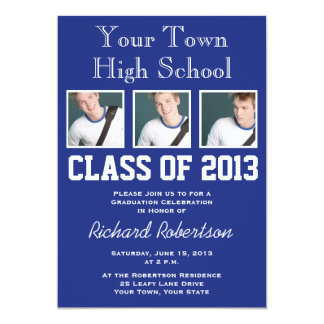 High School Athlete Sports Style Graduation 13 Cm X 18 Cm Invitation Card