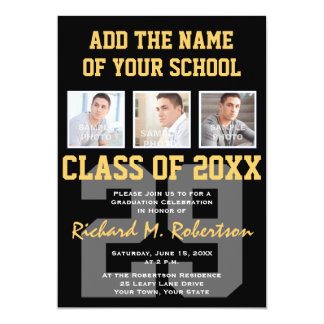 High School Athlete Team Colours Graduation 13 Cm X 18 Cm Invitation Card