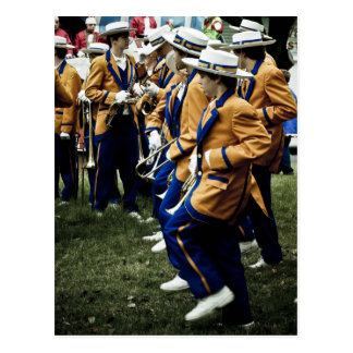 High School Brass Bands in Mardi Gras Postcard