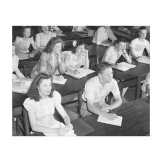 High School Class, 1943 Canvas Prints