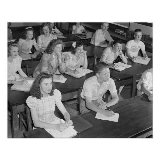 High School Class, 1943 Posters