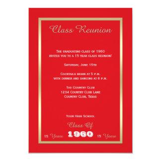 High School Class Reunion Bold Red 13 Cm X 18 Cm Invitation Card