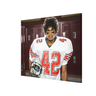 High School football player Canvas Prints
