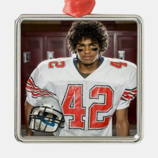 High School football player Christmas Tree Ornament
