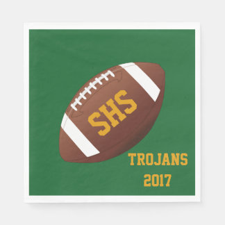 High School Football Team Homecoming Party Napkins Disposable Serviettes