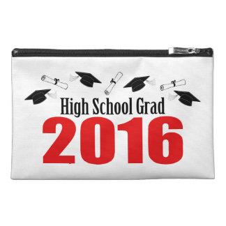High School Grad 2016 Caps And Diplomas (Red) Travel Accessory Bag