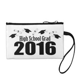 High School Grad Class Of 2016 Caps (Black) Coin Purse