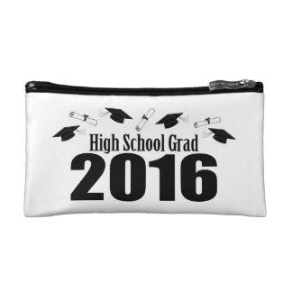 High School Grad Class Of 2016 Caps (Black) Cosmetic Bags