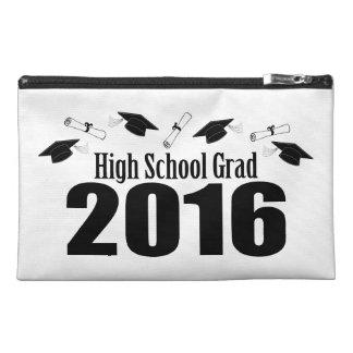 High School Grad Class Of 2016 Caps (Black) Travel Accessory Bags