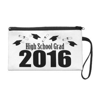 High School Grad Class Of 2016 Caps (Black) Wristlet Purse