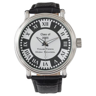 High School Graduation Class and Year For Graduate Wrist Watches