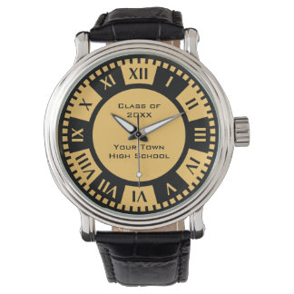 High School Graduation Class and Year School Color Wristwatches