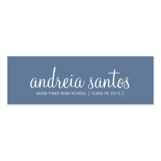 High School Graduation Name Navy Blue White 2013 Pack Of Skinny Business Cards