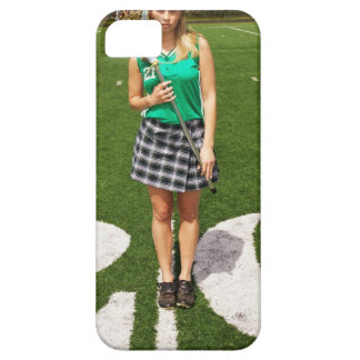 High school lacrosse player (16-18) holding case for the iPhone 5