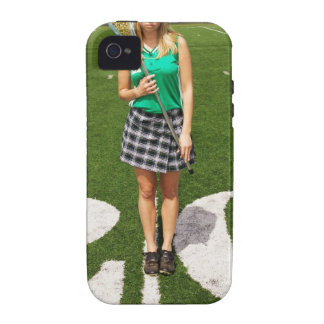 High school lacrosse player (16-18) holding iPhone 4/4S cases
