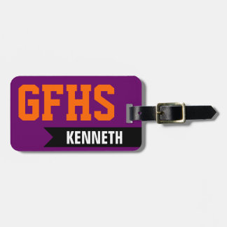 High School or College Student Luggage Tag