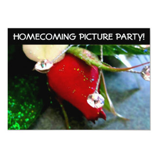 High School Pre Dance Picture Party 13 Cm X 18 Cm Invitation Card