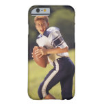 High school quarterback with football barely there iPhone 6 case