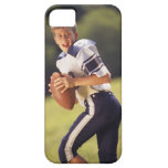 High school quarterback with football iPhone 5 cover