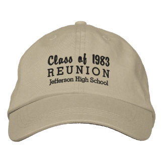 High School Reunion Class of Custom School Name Embroidered Cap